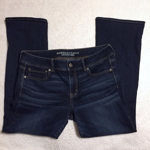 AEO Kick Boot Blue Jeans Size 14 Short
